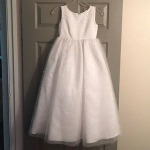 Little girl first commuio, mini bride formal dress
